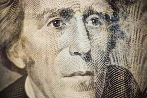 Andrew Jackson on the $20 bill, photo by http://www.flickr.com/photos/thomashawk/540936323/